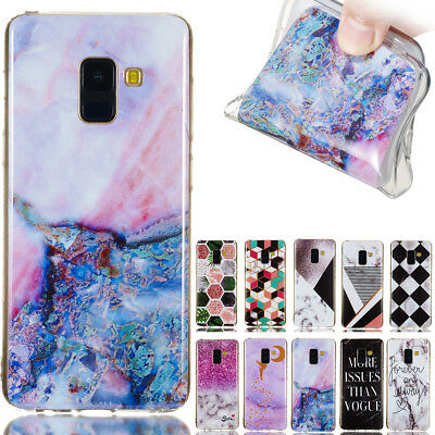 For Huawei Y9 2018,Y5 Y6 Y7 Prime 2018 Slim Soft Silicone marble TPU Case Cover