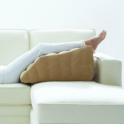 Lounge Doctor Inflatable Travel Leg Rest Cappuccino Small-Foot Pillow-Leg