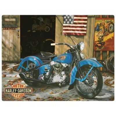 "Harley Davidson At Your Service Die-Cut Embossed Metal Sign 17 x 12.5"" 2010541"