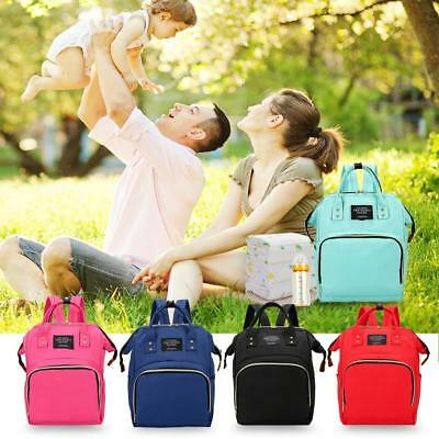 Mummy Maternity Diaper Bags Large Capacity Stripe Travel Backpack Baby Nursing