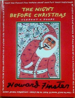 "Howard Finster's Illustrated  ""Night Before Christmas"" Book"