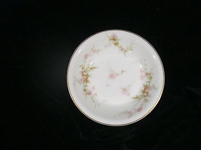 "Theodore Haviland Small Bowl- 5"" DIAMETER -Pink Roses w/ Gold Trim FRANCE"