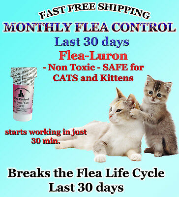 1 Year Supply MONTHLY Flea Control For CATS 2-30Lbs. 165 Mg PB 12 Capsules NEW