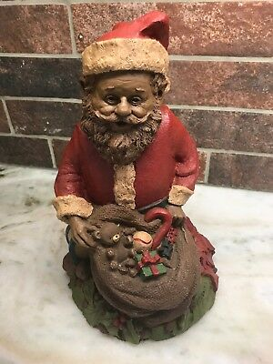 "Tom Clark Christmas Gnome 10"" Santa Claus with Toys & Elf 1984 Signed"
