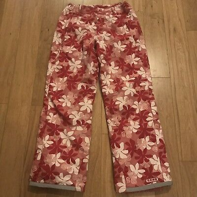 Girls Ladies H&M Pink Floral Ski Trousers Salopettes Age 14+ Fits Ladies Sz 12
