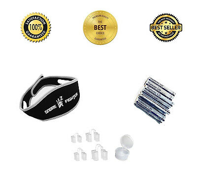 Anti Snoring Aid Solution, Nasal Dilator & Strips, Chin Strap Snore Reduction