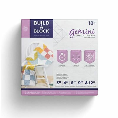 Crafters Companion Gemini Build-a-Block Set - Quilting Fabric Patchwork Kit