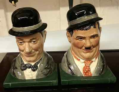 laurel and hardy limited edition bookends by royal doulton d7119/d7120