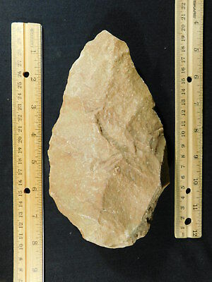 A BIG! ONE Million Year Old Early Stone Age ACHEULEAN HandAxe Mauritania 780gr
