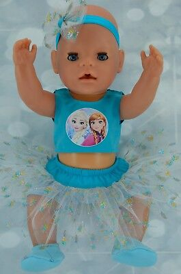 "Play n Wear Doll Clothes 17""Baby Born SKIRT/BUILT-IN TIGHTS~TOP~HEADBAND~BOOTIES"