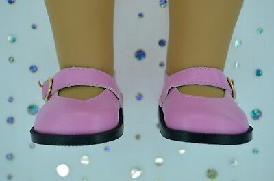"""Dolls Shoes For 17""""Baby Born~18""""American Girl  PINK MARY JANE SHOES"""