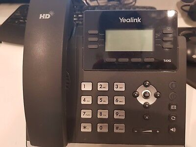 Yealink SIP-T42G 12 Line IP Phone Dual Gigabit POE No power Adapter