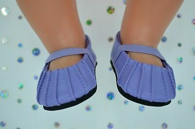 """Dolls Shoes For 17""""Baby Born~18""""American Girl  PRETTY LILAC SHOES"""