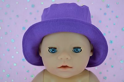 """Play n Wear Doll Clothes To Fit 17"""" Baby Born DREWBERRY DRILL SUN HAT"""