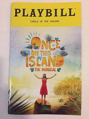 Once On This Island Playbill Book New York City Nyc Broadway November 2018