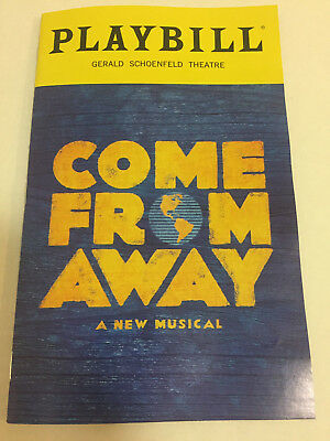 Come From Away Playbill Book New York City Nyc Broadway October 2018