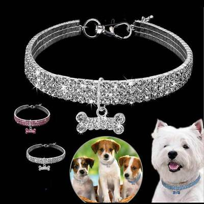 Pendant for Pet Puppy Chihuahua Bling Rhinestone Dog Necklace Collar Diamante