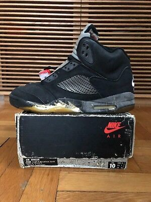 d27b245e7be255 Original 1990 Nike Air Jordan 5 Black  Black Metallic-Silver Size 10 OG  Vintage