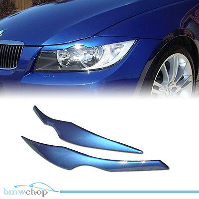 Painted BMW E90 3-series Headlight Eyelids Eyebrows Cover ABS New