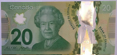 CANADA 2012, 20 dollars, $20 Polymer Banknote,bill, real money Uncirculated NEW!