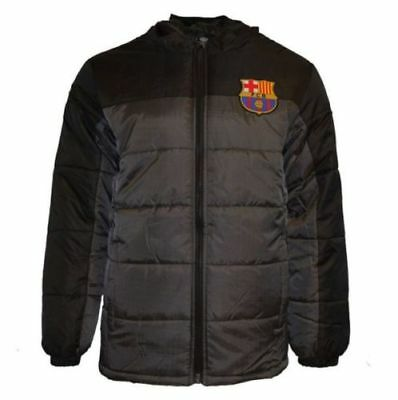da2c761e333 FC Barcelona FCB Jacket Youth Soccer Light Down Padded Zip up Hoodie Messi