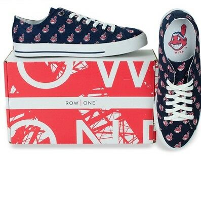 Cleveland Indians Team Apparel MLB Row One Men Women Sneakers Low Top Shoes