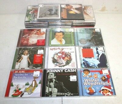 Christmas CD Lot: 23 Different CDs - Country Rock Oldies Children's Pop NEW