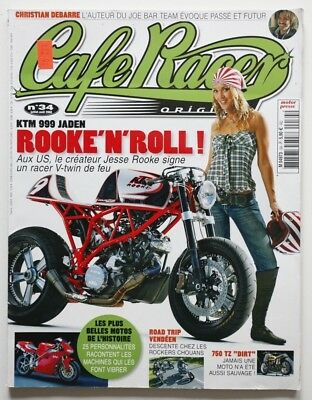 CAFE RACER Magazine 34 KTM 999 Jaden Yam 750 TZ Dirt Joe Bar Team - HS5006000918