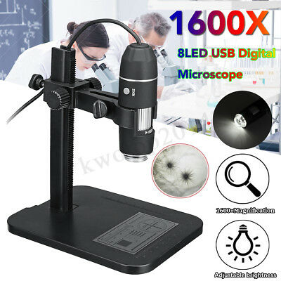 1600X 8LED USB Digital Microscope Endoscope 5segment Zoom Camera Magnifier 24bit