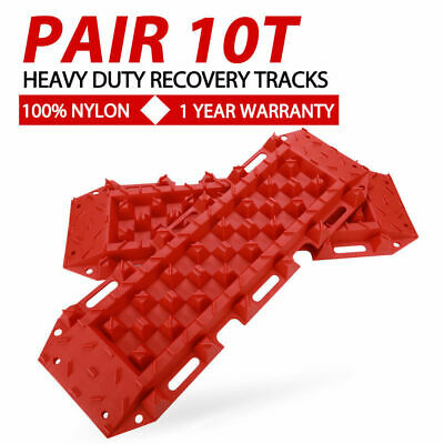 RED 4WD Recovery Tracks 10T Off Road 4x4 ATV Snow Mud Sand Track 10 ton Pair