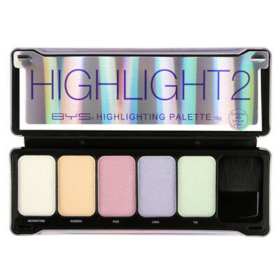 BYS Face 5 Shade Highlighting #2 Palette with Brush