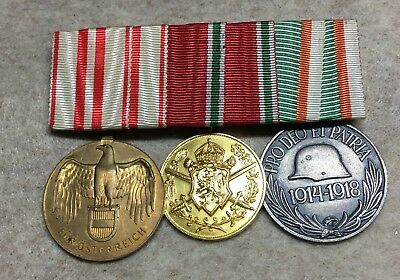 Austria-Hungary mounted group of   3   medals