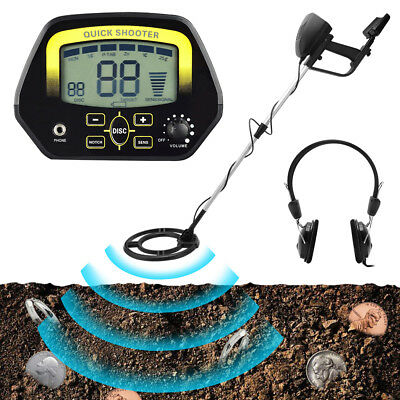 LCD Gold Treasure High Sensitivity 900mm Metal Detector Hunter Underground 5Mode