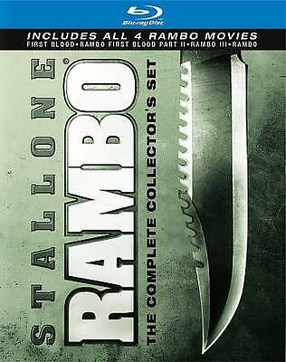 Rambo: The Complete Collectors Set (Blu-ray Disc, 2010, 4-Disc Set)Brand New