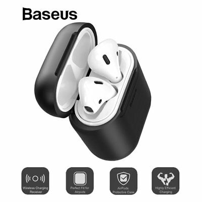 Baseus Qi Wireless Charge Receiver Case Silicone TPU Cover New For Apple Airpods