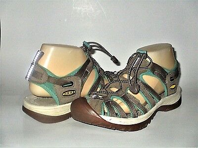 bbdfe51fb594 Women s Keen Whisper Shitake Malachite Nylon Waterproof Sport Sandals SZ 8  M GUC