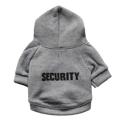 Pet Dog Puppy Clothes Printed Security Sweatshirts·Hoodies Sweaters Chihuahua S+