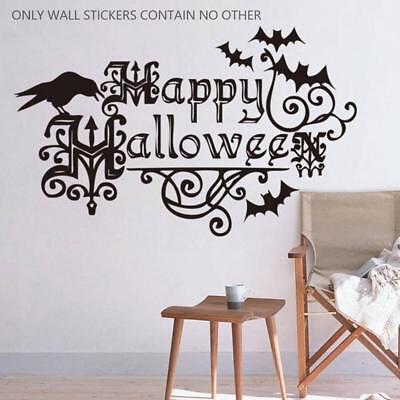 Halloween Chauve Souris Stickers De Décoration Murale Salon Sticker