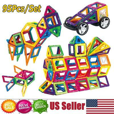 95Pcs Magical Magnetic Building Blocks Educational Toys For Kids Colorful Gift S