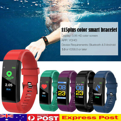 Fitness Smart Watch Activity Tracker Women Men Kids Android iOS Heart Rate AU