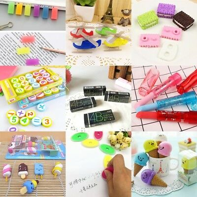 Cute Novelty Lipstick Rubber Pencil Eraser Office Stationery Gift Toy 10Style fr