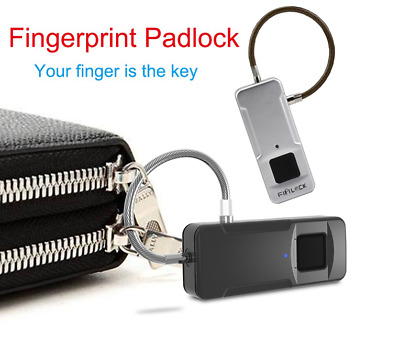 Fipilock Anti-Theft Smart Fingerprint Travel Keyless Lock Padlock for Luggage