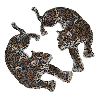Chic Patches Leopard Panter Patch 2stk DIY Aufnäher Kleidung Jeans Flicken Deko