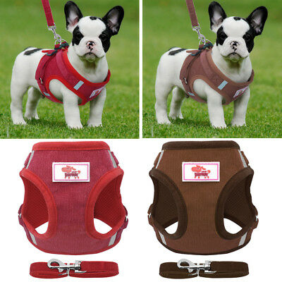 Adjustable Padded Dog Harness Pet Vest Puppy Lead Leash Collar Strap Non Pull UK