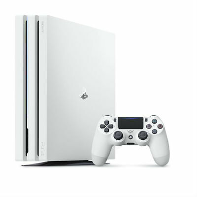 Sony PlayStation 4 Pro (PS4 Pro) 1TB with 1pc Wireless Controller Glacier White