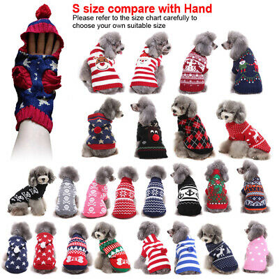 Pet Dog Sweater Clothes Small Puppy Cat Hoodie Chihuahua Costume Winter Apparel