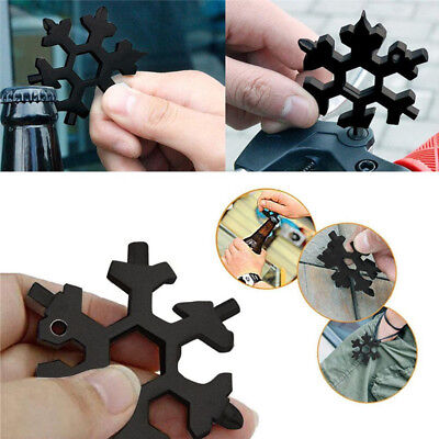 18-in-1 Multi-tool Card Combination Compact & Portable Outdoor Snowflake tool