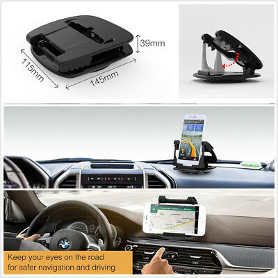 Car Dashboard GPS Phone Mount Holder 360° Rotatable For iPhone 7 8 X XS Samsung