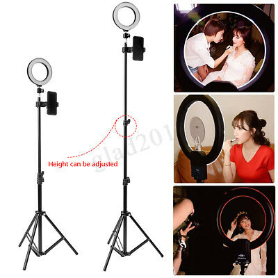 Dimmable LED Ring Light Photo Studio Selfie Lamp w/Stand for Makeup Camera Phone