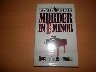 Murder in E Minor Goldsborough, Robert Nero Wolfe 1st ed 1st print SIGNED 1986